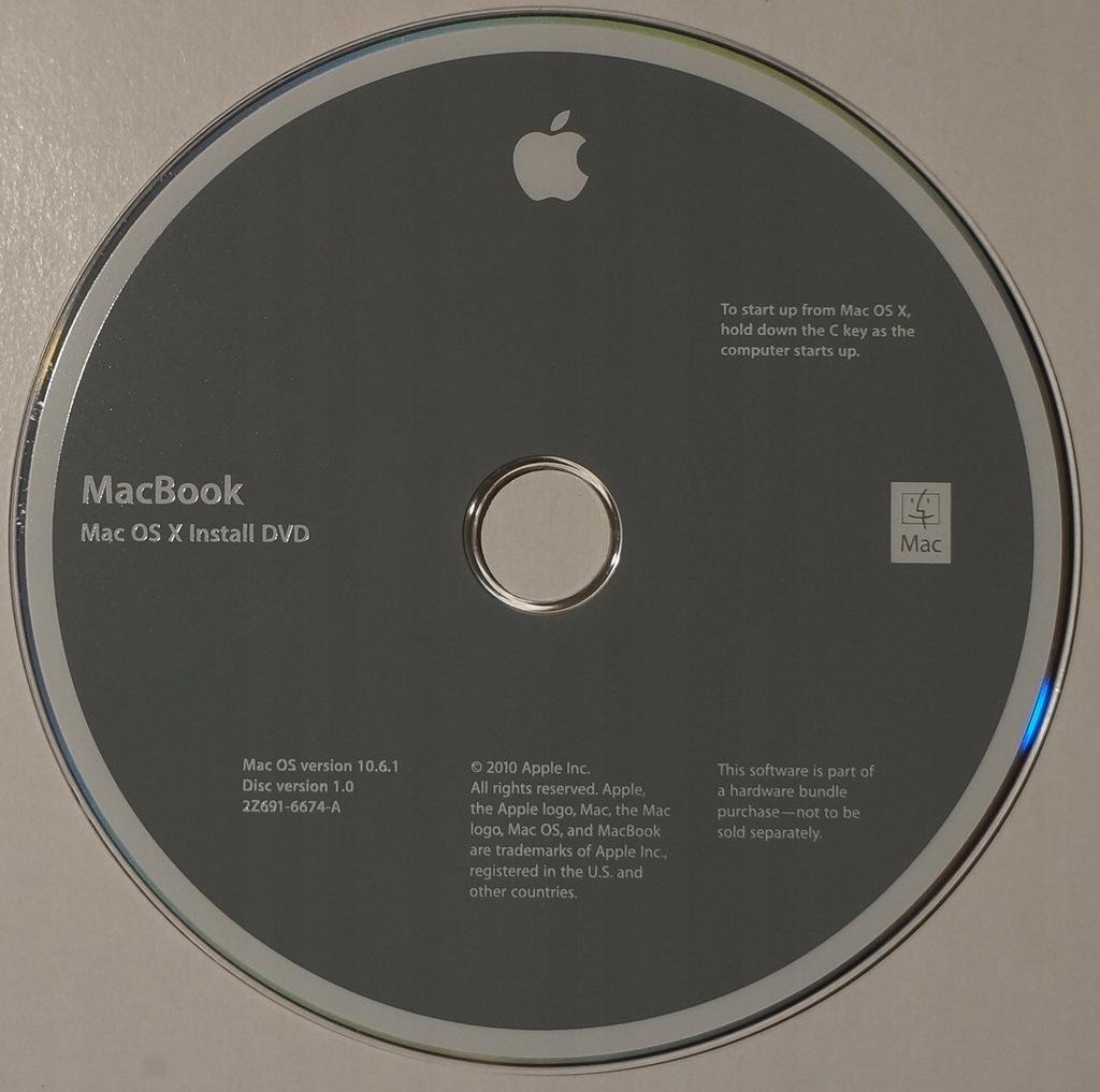 MACBOOK - MAC OS X 10.6.1
