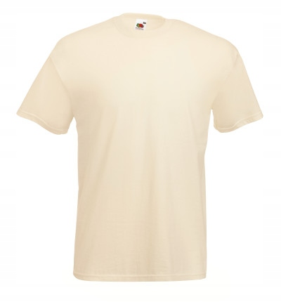 T-SHIRT FRUIT OF THE LOOM VALUE NATURAL L
