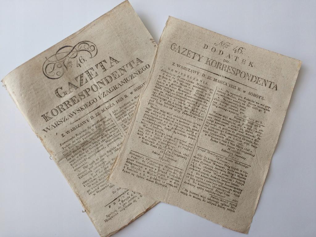 Gazeta Korrespondenta Warszawskiego | Nr 46 | 1823