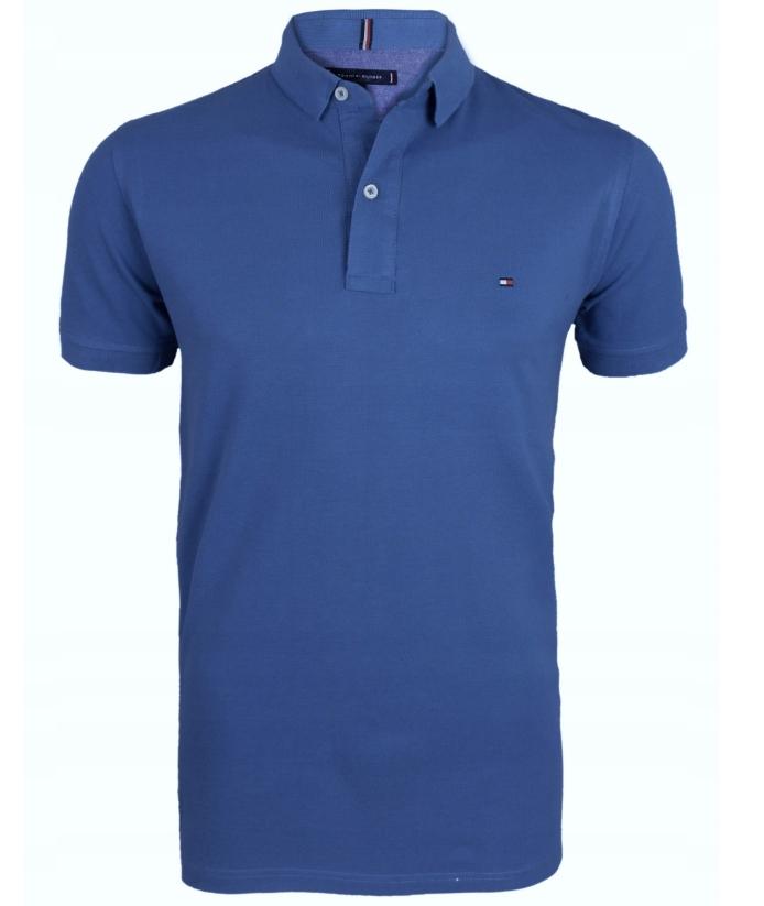 Koszulka Polo Tommy Hilfiger Niebieska Rozmiar XXL