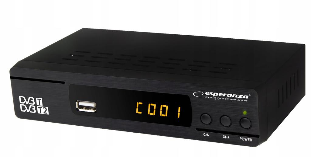 EV104 Tuner cyfrowy DVB-T/T2 Esperanza