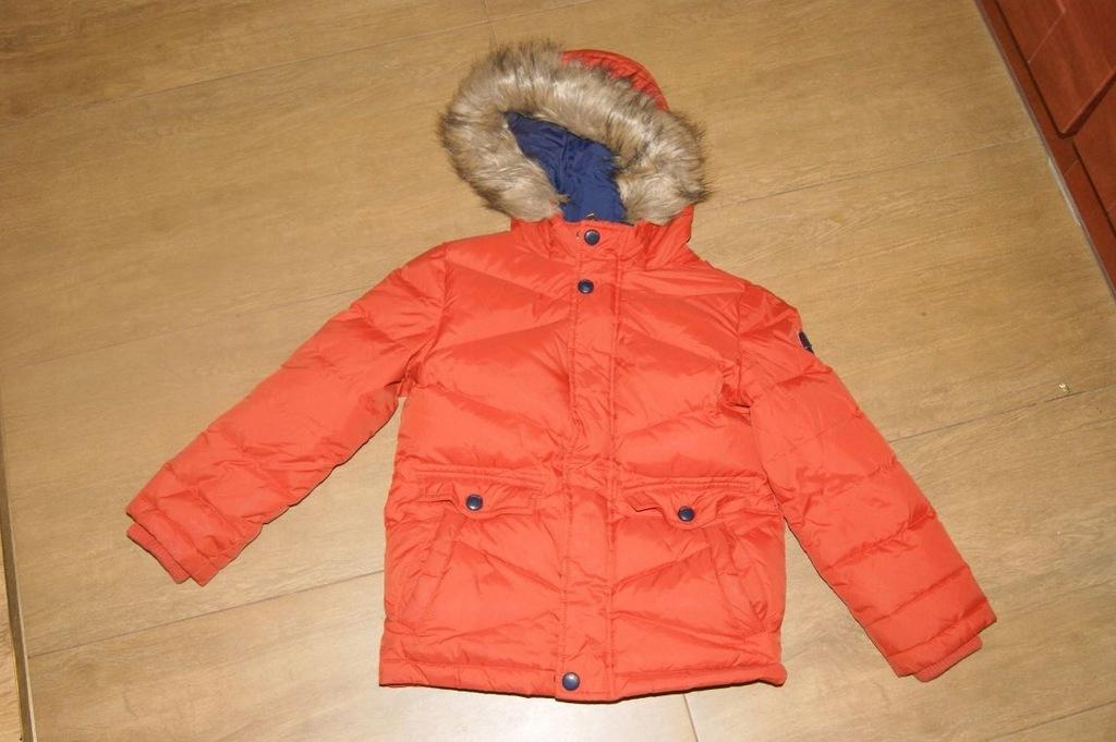 kurtka zimowa c&a 122 pomarańczowa chłopiec