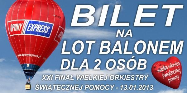 Lot balonem OPONY EXPRESS