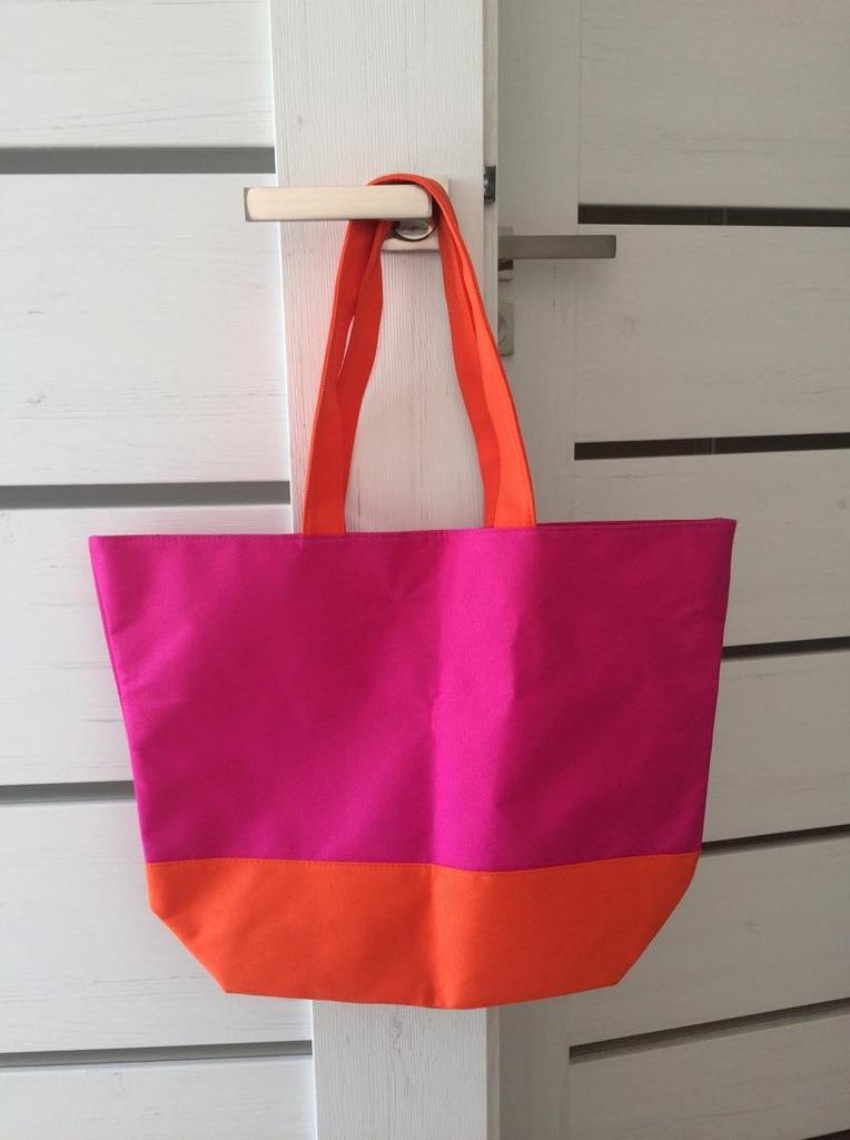 ZARA torba torebka neonowa shopper mango H&M