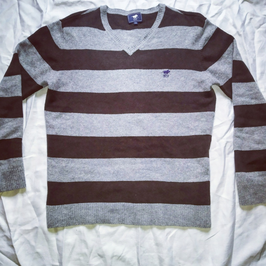 Męski Sweter Polo Sylt r.M miły dotyk