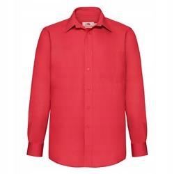 MĘSKA koszula POPLIN LONG FRUIT czerwony 3XL