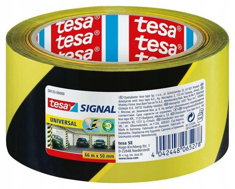 TESA TAŚMA SIGNAL ŻÓŁTO-CZARNA 66m 50mm