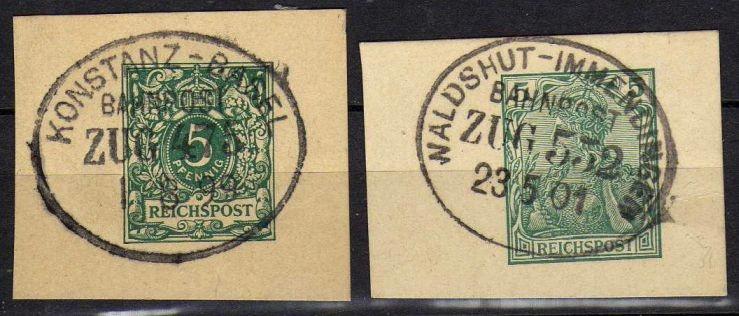 DR - 2 wycinki z lat 1899/1901