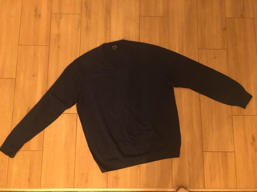 sweter serek niebieski