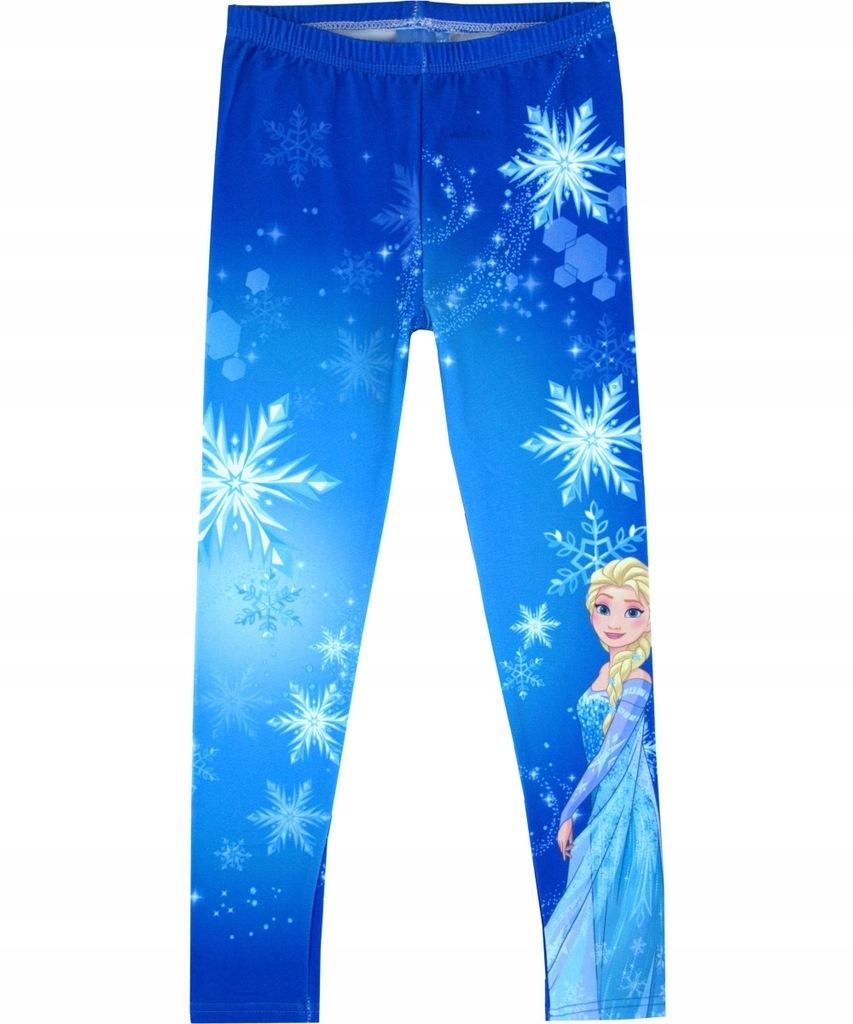 Legginsy Kraina Lodu Elsa niebieskie 110