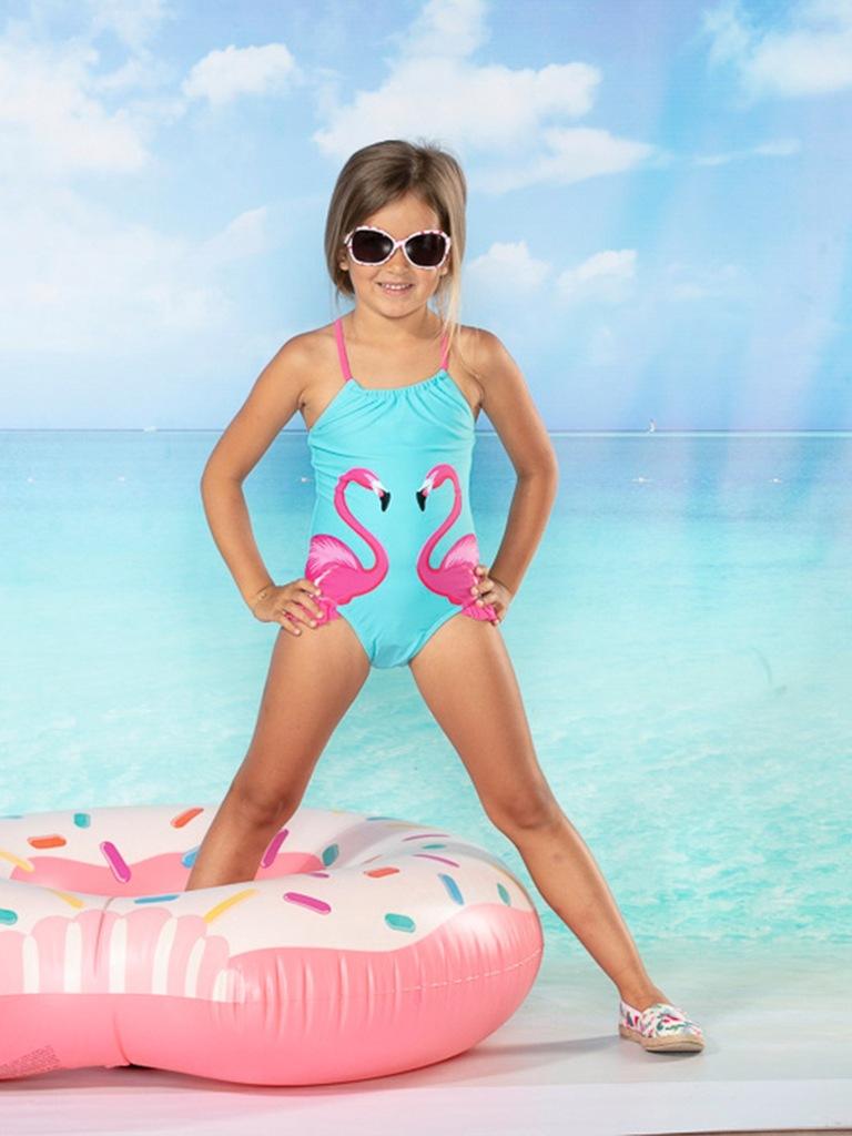 TXM kostium kąpielowy dziewczęcy 116/122 TURKUSOWY