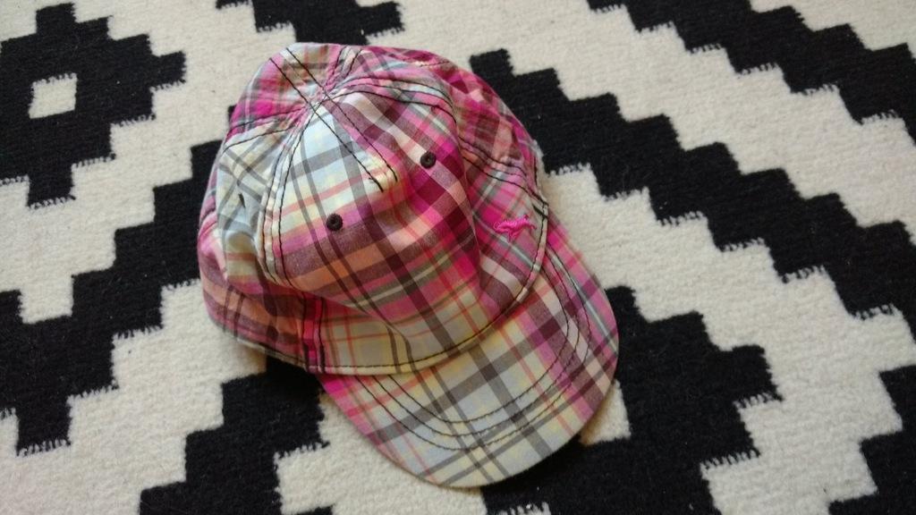 H&M czapka krata z daszkiem 9-12-18m bdb 45-46