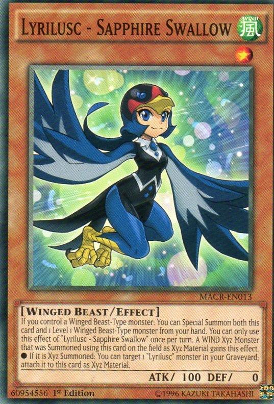 Karta YU-GI-OH - Lyrilusc - Sapphire Swallow
