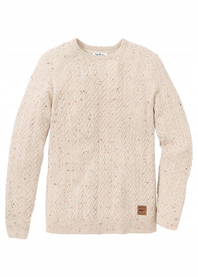 A85 BPC Sweter w warkocze Regular Fit r.52/54
