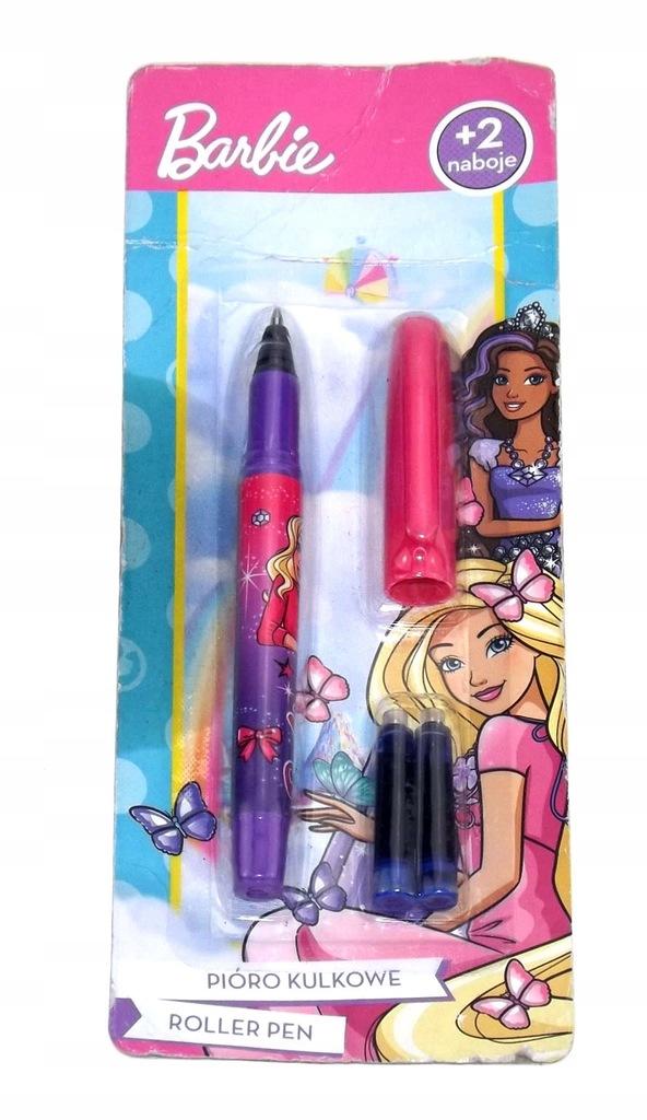 Pióro kulkowe Roller Pen + dwa naboje Barbie