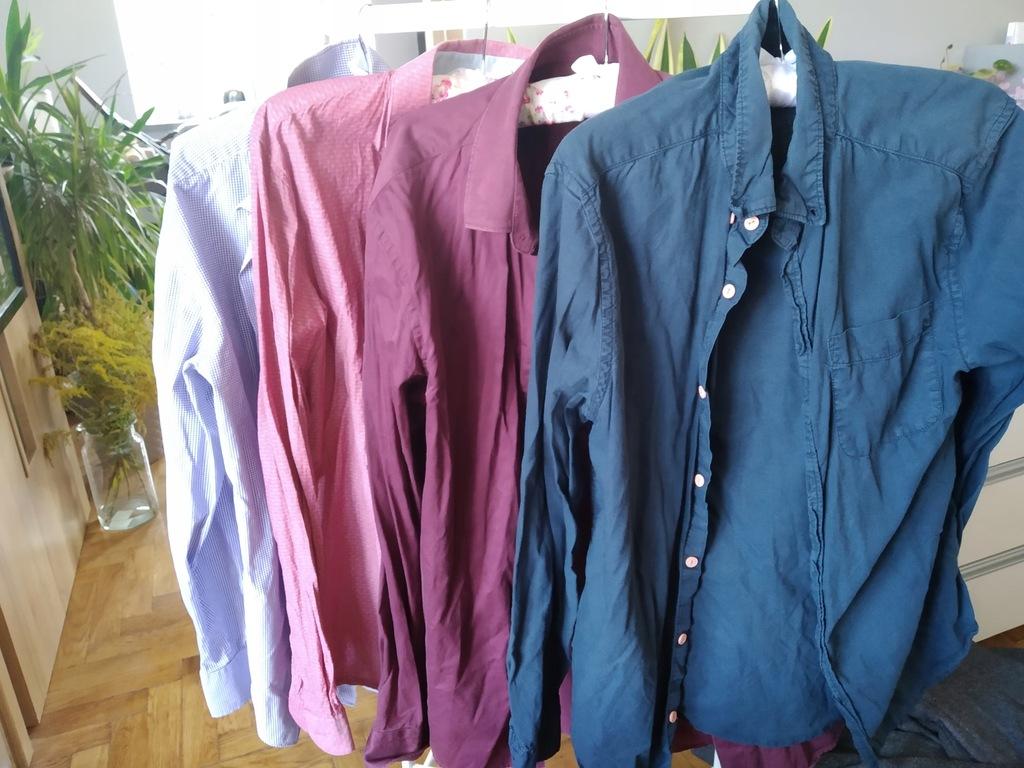 Pakiet 4 koszul w cenie 1 Zara river island pull