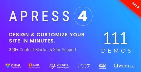 Szablon WordPress Apress - 107 gotowych szablonów!
