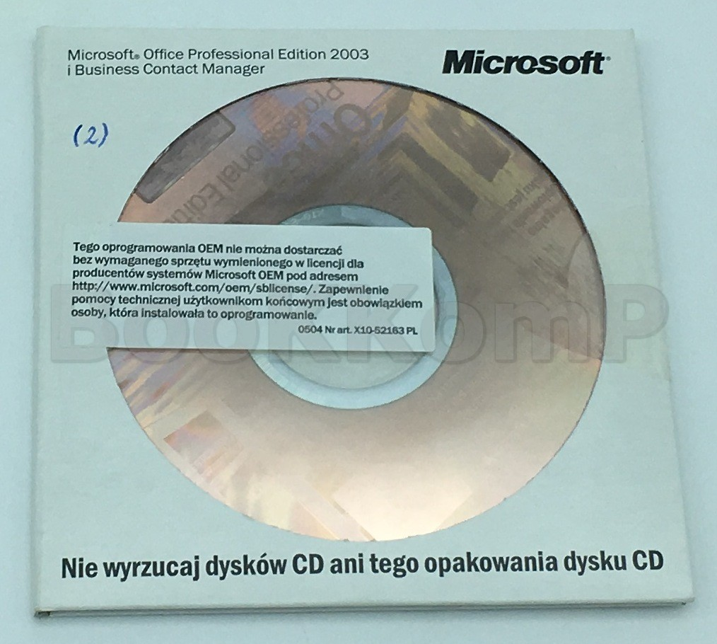ORYGINALNY Office Professional Edition 2003 PL