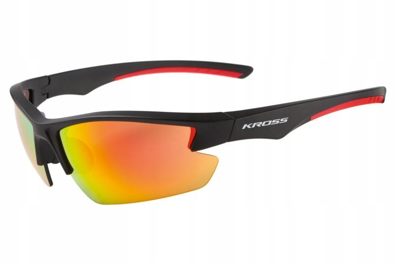 Okulary rowerowe KROSS FLOW czarno-czerwone