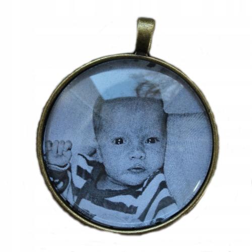 Duży medalion ze zdjęciem Hit na prezent retro