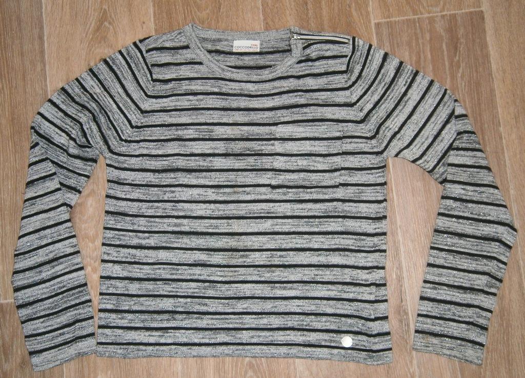 Świetny sweterek ze srebrną nitką - Coccodrillo