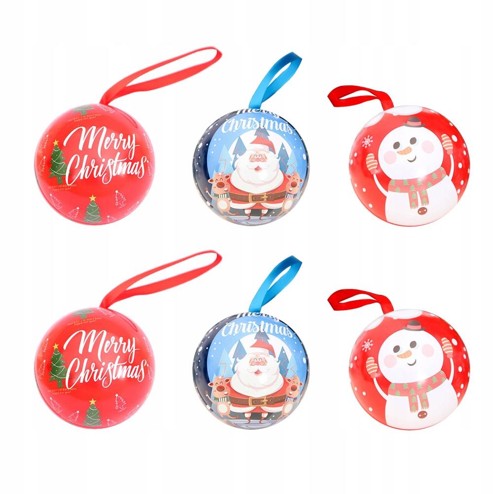 6 sztuk wisiorek świąteczny wiszące pudełko cukier