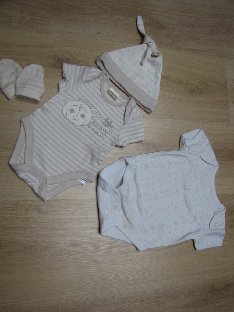Zestaw newborn do szpitala Body+czapeczka+polarek