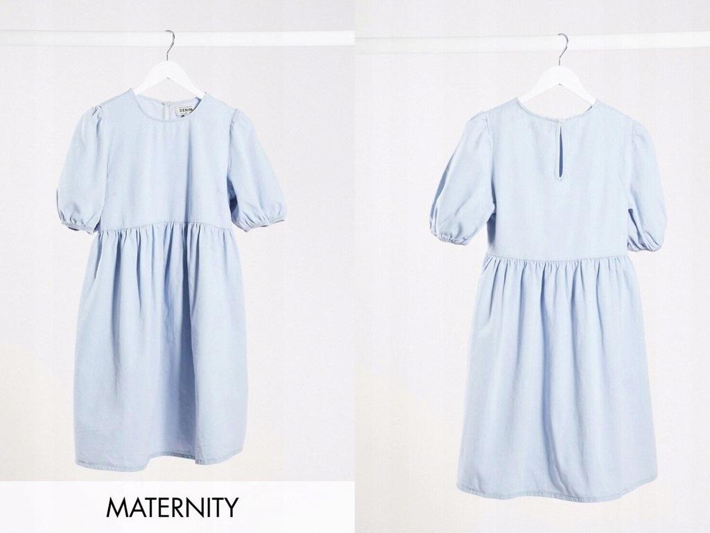 New Look Maternity Niebieska sukienka jeansowa