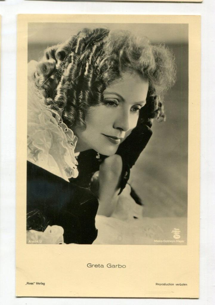 Greta Garbo Kino Film Aktorka Foto Pocztówka 19