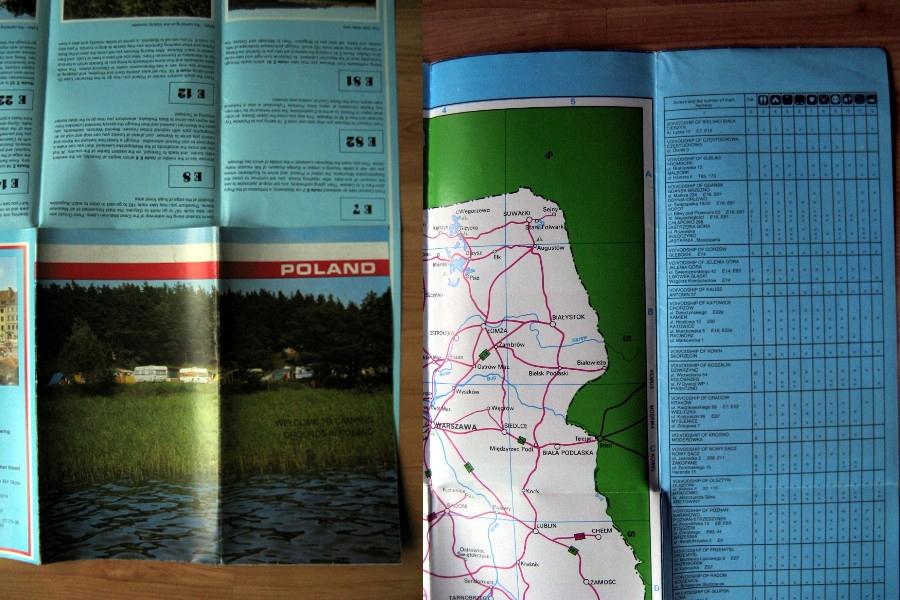 Stary plan informator pola namiotowe w Polsce 199x
