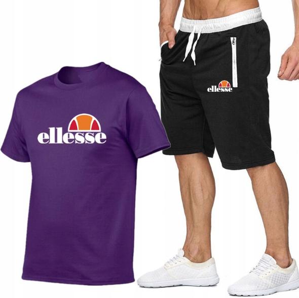 T-shirt FIOLETOWY+ Spodenki Ellesse R XXL MPA STYL