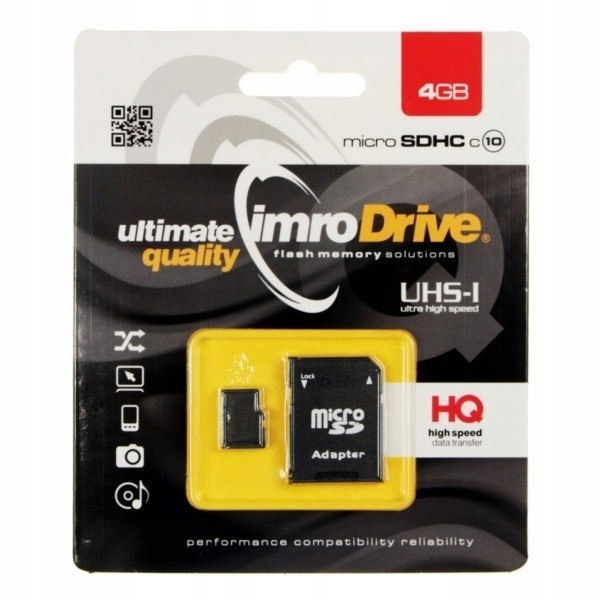 Karta pamięci microSD 4GB Imro + adp