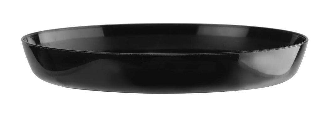 PODSTAWKA 11 cm Cristal pod doniczkę czarna