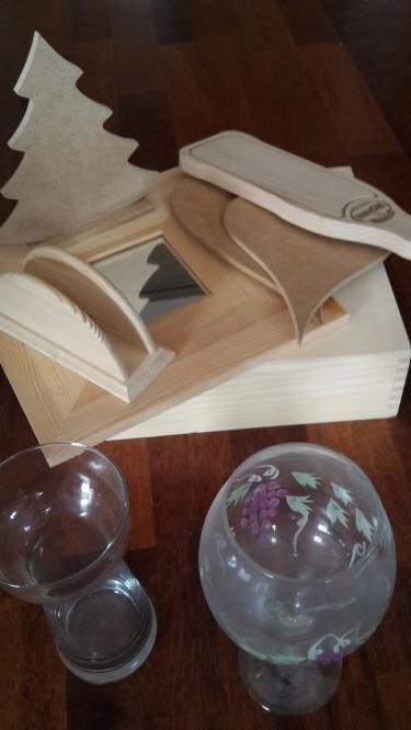 Decoupage zestaw +papiery NOWE LUSTRO SKRZYNKA