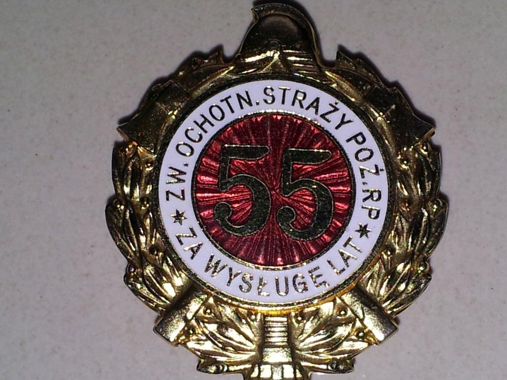 Odznaka Za Wysługę 55 Lat w OSP - od 1997 r.