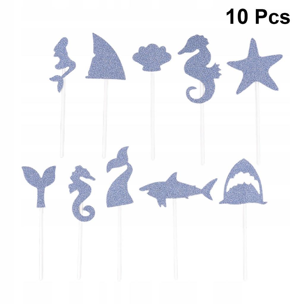 10 sztuk Topper Ciasto Shark Kształt Ciasto Topper