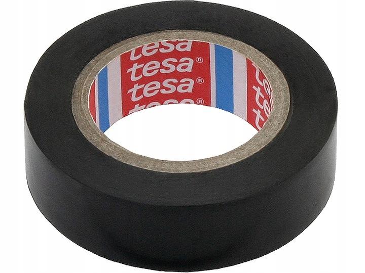 Taśma izolacyjna czarna Tesa 10 m x 15 mm