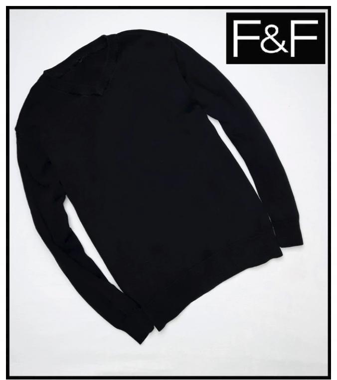 F&F czarny SWETER sweterek rozmiar 140 146