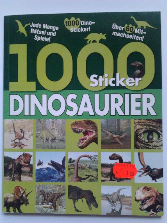 1000 naklejek z Dinozaurami