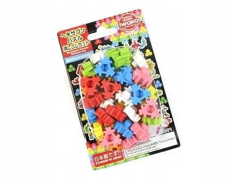 Zestaw gumek do ścierania - Hexagon puzzle