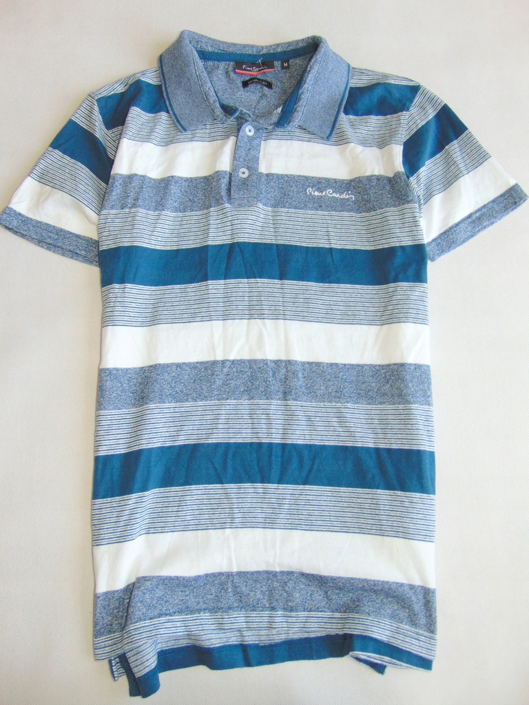 PIERRE CARDIN PARIS koszulka polo męska w pasy r M