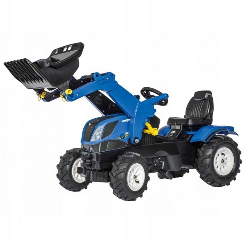 ROLLY TOYS Traktor na Pedały NEW HOLLAND Pompowane