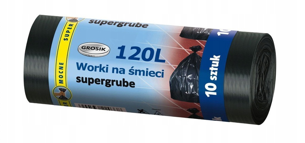 Worki na śmieci Grosik 120l a10 super