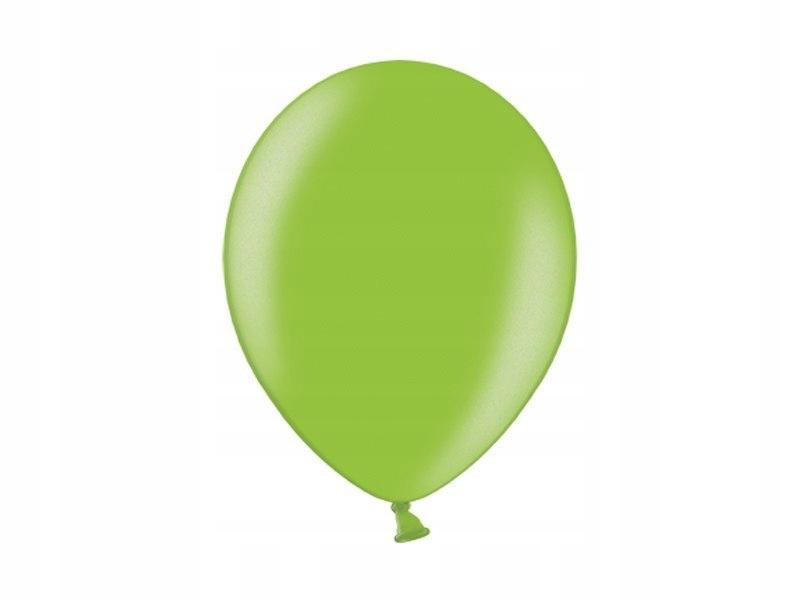 Balony 10'', Metallic Lime Green (1op=100 szt)
