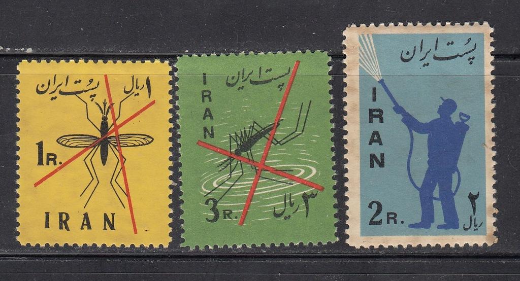 IRAN MI 1077-1079 WALKA z MALARIĄ seria czyste