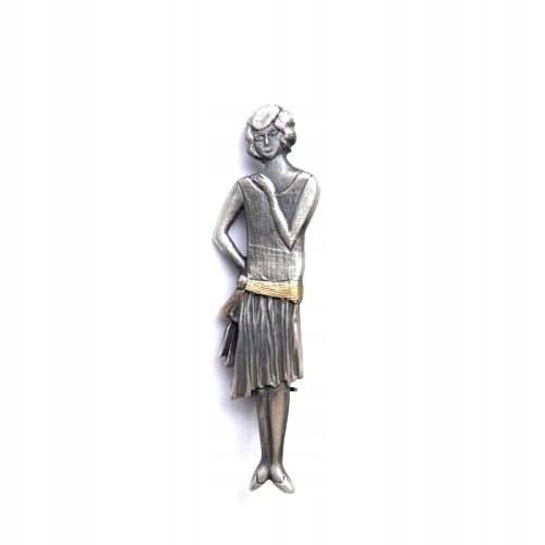 Venus Galeria - Broszka srebrna - Oksydowana dama
