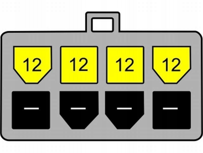 Kabel DELOCK 82405 (4-Pin - 8-Pin ; 0,15m; kolor c
