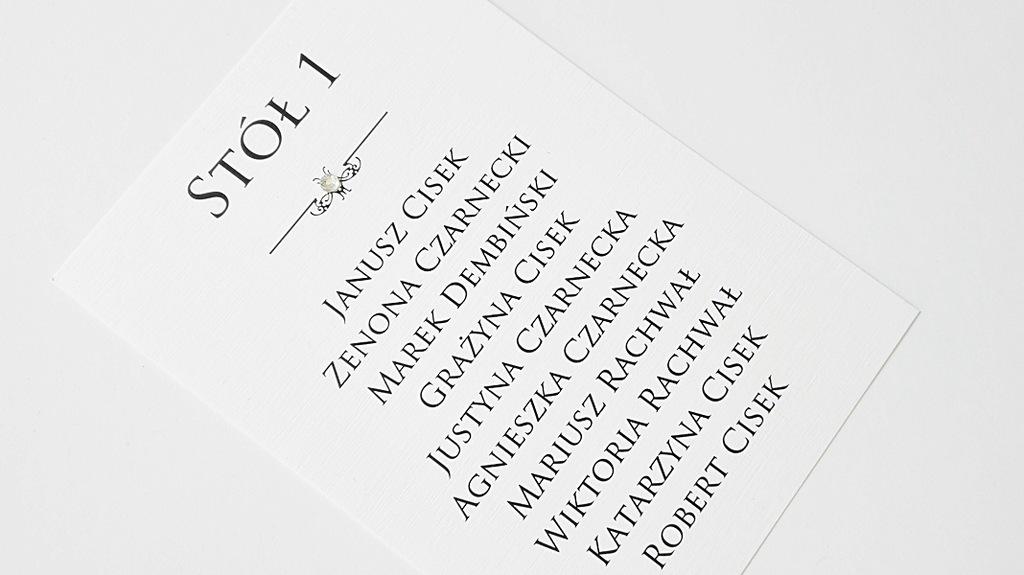 Plan Stołów weselnych, karty ekspresowo 3 dni