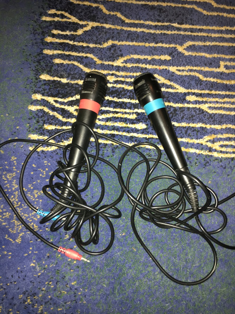 2 mikrofony do Playstation SingStar z kablem