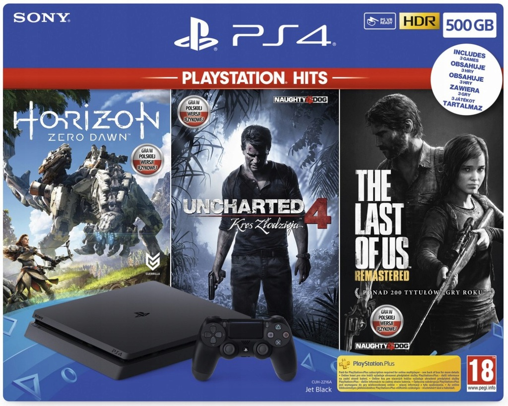 SONY Playstation 4 500GB + Horizon Zero Dawn ++